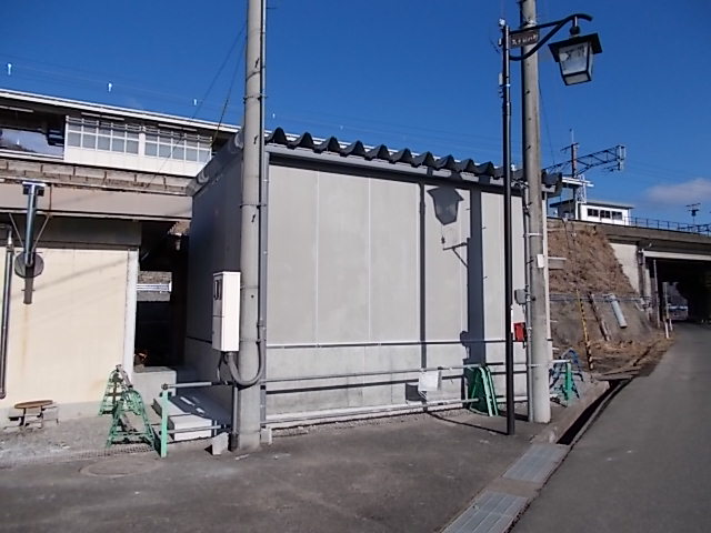 永原駅 機器室
