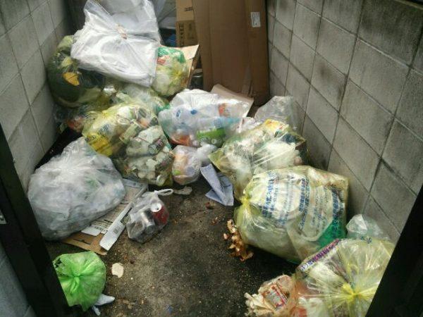 ゴミ置き場作業前