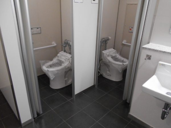 吹田トイレ新設工事完成
