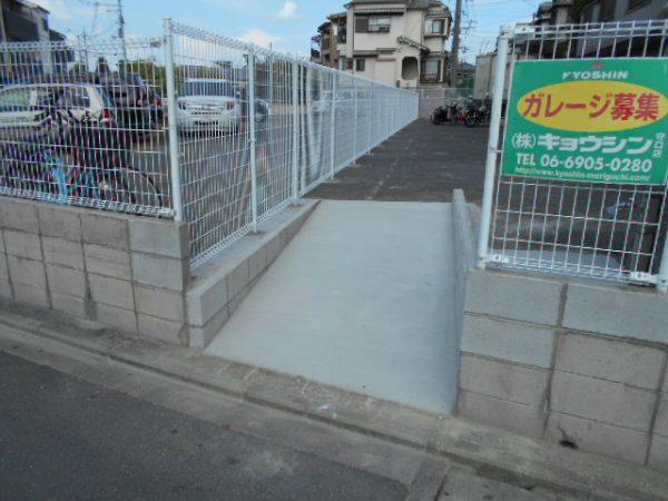 Tマンション ネットフェンス新設及びスロープ工事