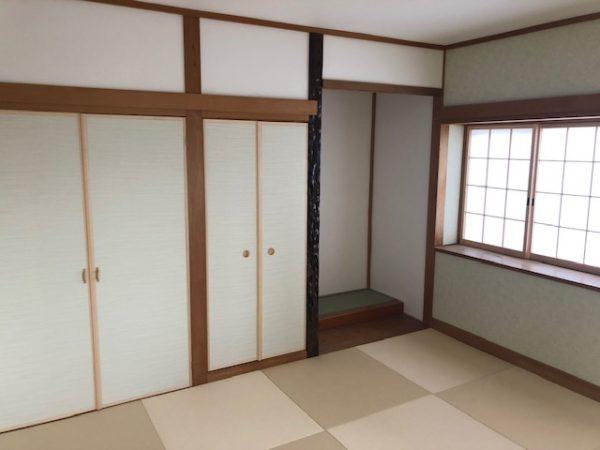 2階和室施工後